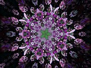Purple Lilac Kalidescope Print by Michelle Frizzell-Thompson
