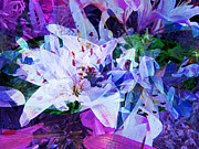 Purple Lillies Abstract Print by Shelly Leitheiser