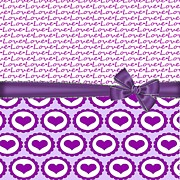Valentines Day Digital Art - Purple Love  by DMiller