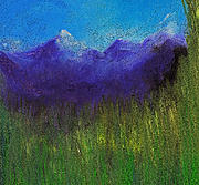 Color Purple Pastels Posters - Purple Mountains by jrr Poster by First Star Art