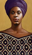 African American Paintings - Purple Muse by Carla Nickerson