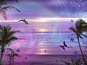 Purple Ocean Dream Print by Alixandra Mullins