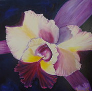 Hybrid Paintings - Purple Orchid by Jenny Lee