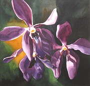 Alfred Ng Metal Prints - Purple Orchids Metal Print by Alfred Ng