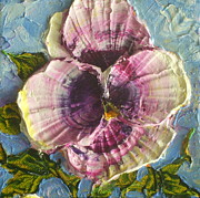 Paris Wyatt Llanso Posters - Purple Pansy Poster by Paris Wyatt Llanso