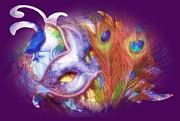 Cindy Nunn - Purple Passion Peacock Feathers