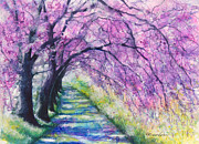 Pathway Mixed Media - Purple Pathway II by Patricia Allingham Carlson