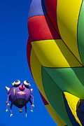 Ballooning Posters - Purple people eater smiling Poster by Garry Gay