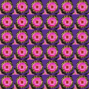 Purple Pink Flower Pattern Decoration Background Designs  And Color Tones N Color Shades Available F Print by Navin Joshi