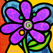 Steven Scott - Purple Pinwheel Daisy