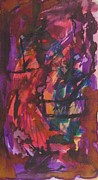 Abstract Artwork Tapestries - Textiles Originals - Purple Prayer by Beena Samuel
