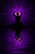 Silhouettes Prints - Purple prayer Print by Tim Gainey