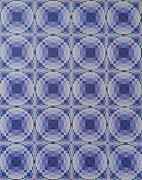 Op Art Painting Posters - Purple Ripples Poster by Chris Long