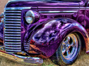 Chevy Coupe Prints - Purple Print by Ron Roberts