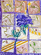 Ceramic Tile Prints - Purple Rose by Stan Bialick Print by Sheldon Kralstein