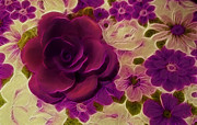 Kathie Mccurdy Prints - Purple Rose Print by Kathie McCurdy