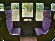 Window Signs Art - Purple Seats By Window by Nina Ficur Feenan