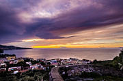 Italian Sunset Digital Art Posters - Purple Skies - Full Poster by Matthew Gulosh