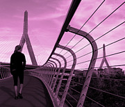Zakim Bridge Photos - Purple Sky by Deepak Kumar