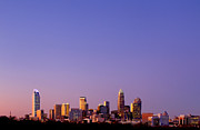 Mecklenburg County Photos - purple skyline Charlotte NC in distance by Patrick Schneider