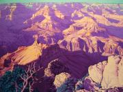 National Parks Paintings - Purple Splendor by Cheryl Fecht