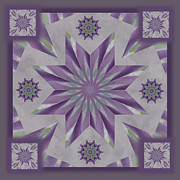 Purple Kaleidoscopes. Posters - Purple Star Mandala Poster by Carol McIntyre