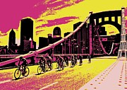 Clemente Prints - Purple Steel City Showdown Print by Erica Michelle