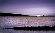 Ocean Acrylic Prints - Purple Sunset at English Bay Acrylic Print by Eva Kondzialkiewicz