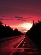 Purple Sunset Print by Jennifer Kimberly