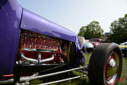 T Bucket Hot Rod Posters - Purple T-bucket Poster by Charles Fennen