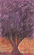 Fruit Tree Art Drawings - Purple tree by Ranka Lazarevic