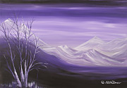 Print On Acrylic Framed Prints - Purple view Framed Print by Roni Ruth Palmer