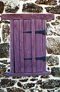 Old School House Prints - Purple Window Print by John Rizzuto