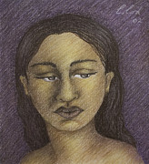Latin Pastels - Purple Woman by Claudia Cox
