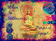 Metaphysics Mixed Media Posters - Purpose Speaks Poster by Tara Catalano