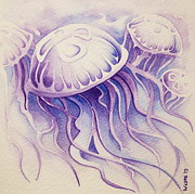 Jelly Fish Paintings - Purpura Jellyfish by William Love