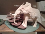 Layers Sculpturing Sculptures - Pushing an Elephant by Motti Inbar