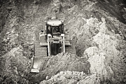 Heavy Equipment Framed Prints - Pushing Dirt Framed Print by Patrick M Lynch