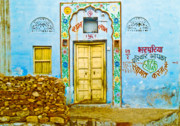 Camel Photos - Pushkar Doorway by Derek Selander