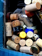Wine Cork Collection Prints - Put a Cork In It Print by Mary Beth Landis