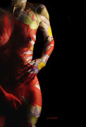 Body Paint Prints - Put A Little Spring In Your Step Print by Donna Blackhall
