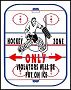 Hockey Playoffs Prints - Put On Ice Print by Daryl Macintyre
