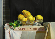 Still Life With Pears Framed Prints - Put pears on the Ralph Lauren Framed Print by Natalia Baykalova