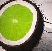 Surrealism Prints - Put the Lime in the Coconut Print by Philip Guiver