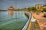 Mosque Prints - Putra Mosque Print by Adrian Evans