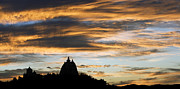 Domes Photo Prints - Puttaparthi Sunset Print by Tim Gainey