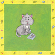 Cute Kitten Originals - Puzzle Kitten by Maria Rodrigues
