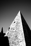 Architecture Photo Prints - Pyramid of Cestius Print by Fabrizio Troiani