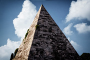 Blue Brick Posters - Pyramid of Rome Poster by Joan Carroll