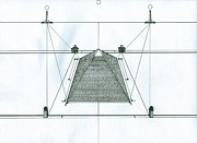 Richie Montgomery Drawings - Pyramid by Richie Montgomery